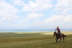 How to go horse riding in Kyrgyzstan Lake Song Kol