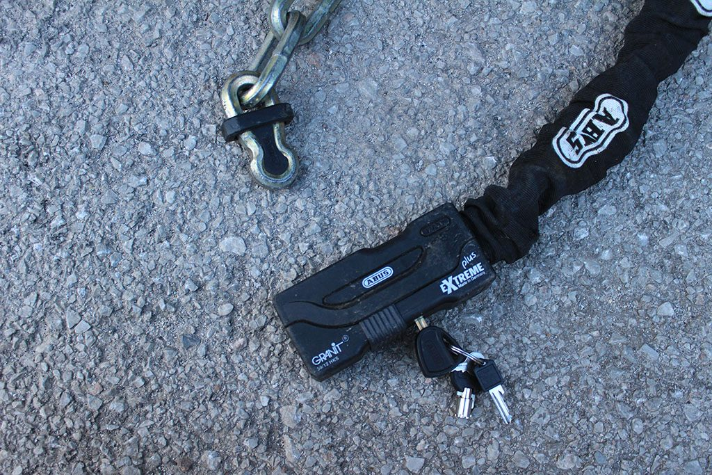 Abus motorcycle chain review