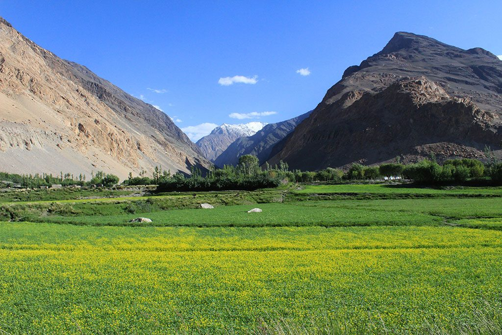 Wakhan Corridor and mountains