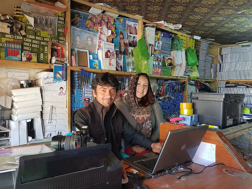 Friendly Afghan shop owner