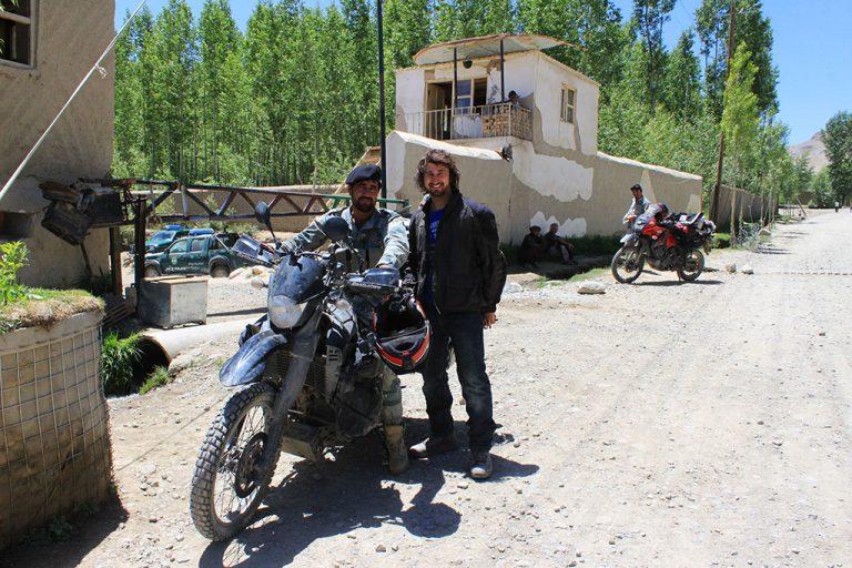Afghan soldier on motorbike