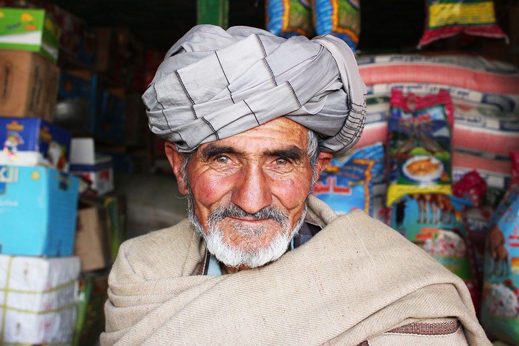 Happy Afghan man