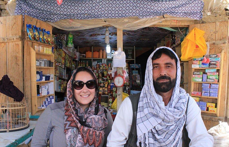 Afghan shop owner