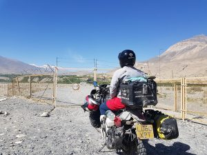 Afghanistan border on motorcycle