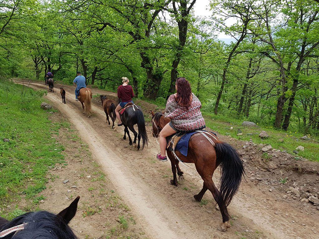 Horse riding in Dilijan Armenia