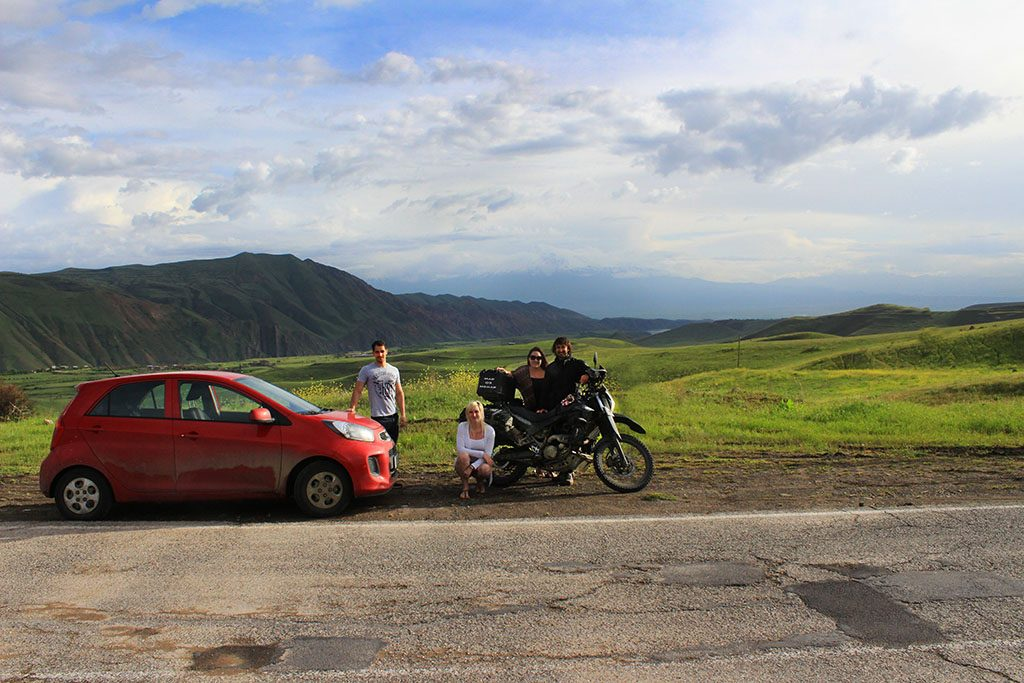 Adventure motorcycle travel in Armenia