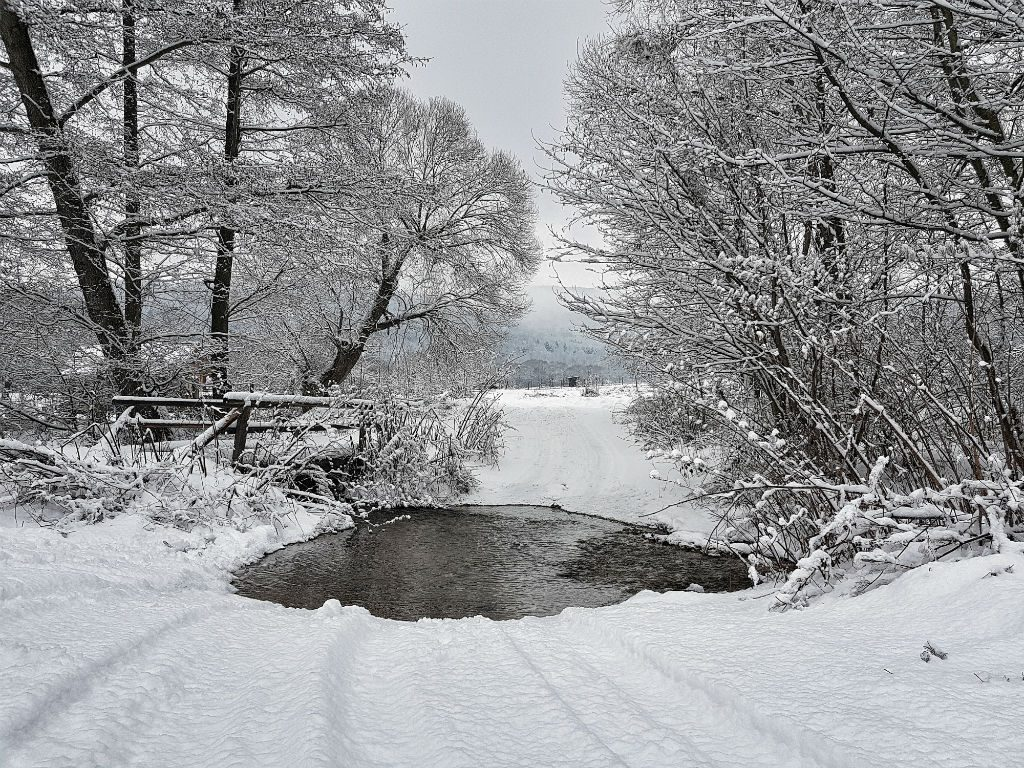 Frozen water in Slovakia