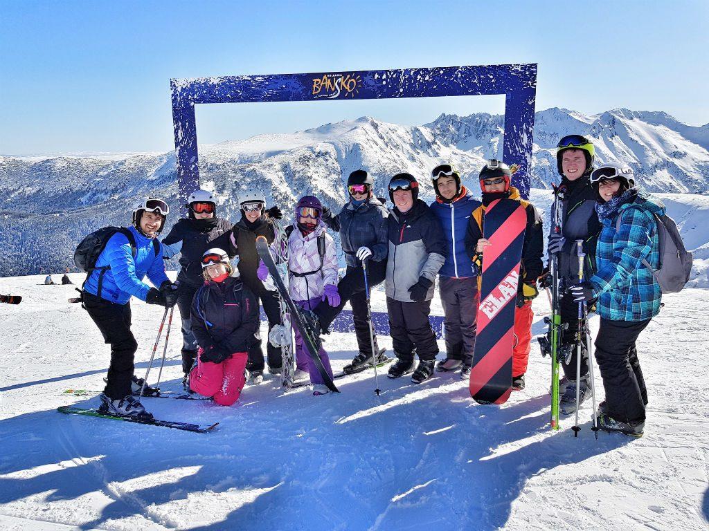 Bansko Bulgaria skiing with friends