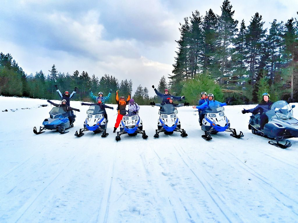 Skidooing in Bankso Bulgaria