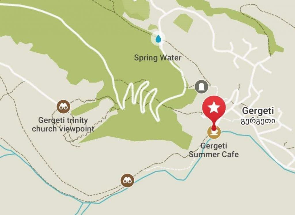 Gergeti Kazbegi guide map