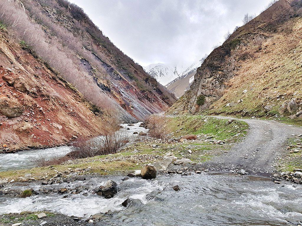 Beautiful walk through Kazbegi