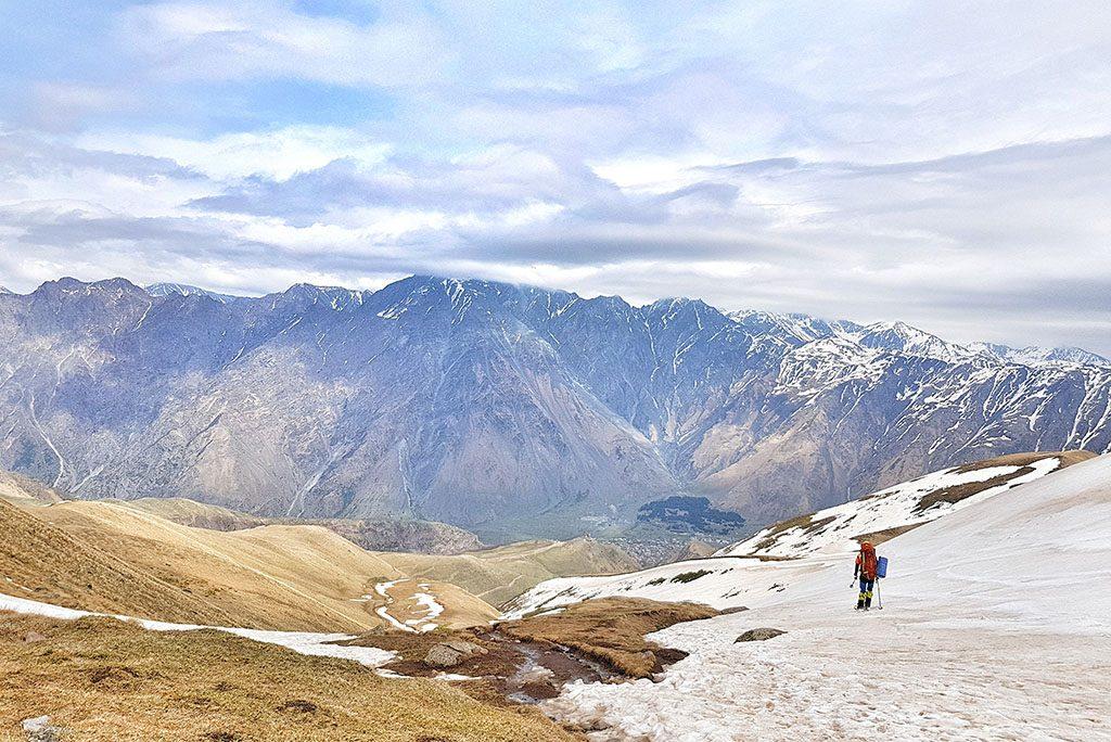 Skis in Kazbegi and hiking