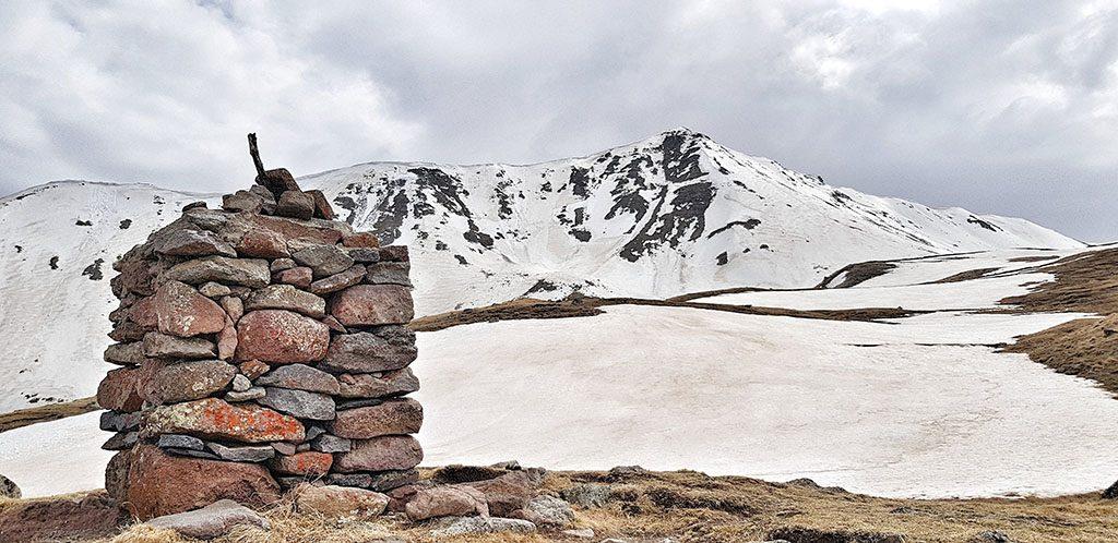 Kazbegi mountain top