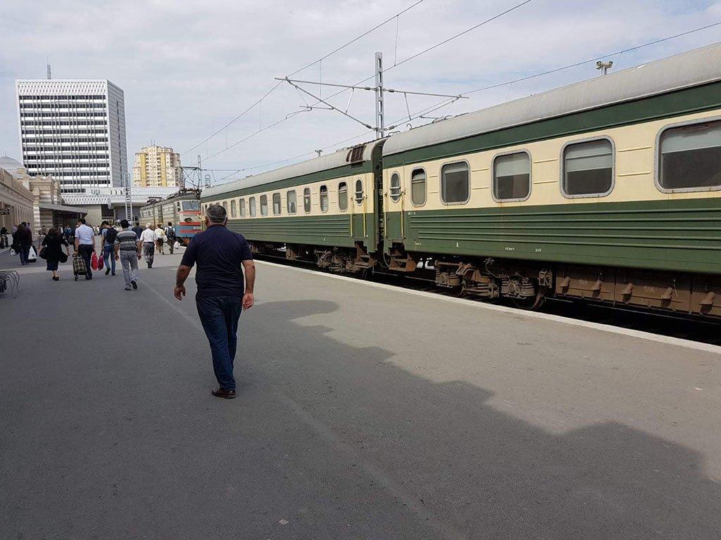 Train from Georgia to Azerbaijan