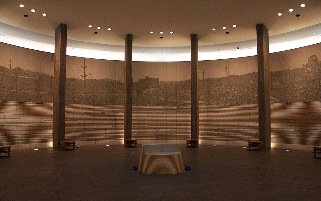 Hiroshima Atomic Bomb museum hall of remembrance