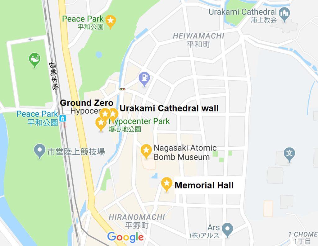 Hiroshima Atomic Bomb Guide map