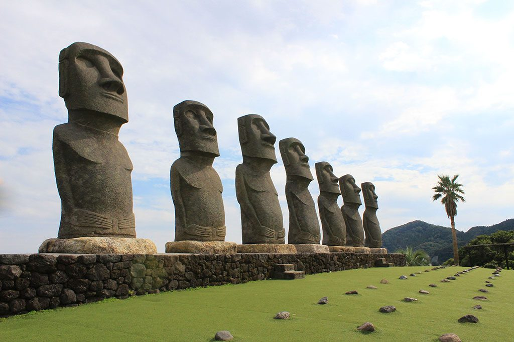 Moai statues at Japan's Easter Island Guide