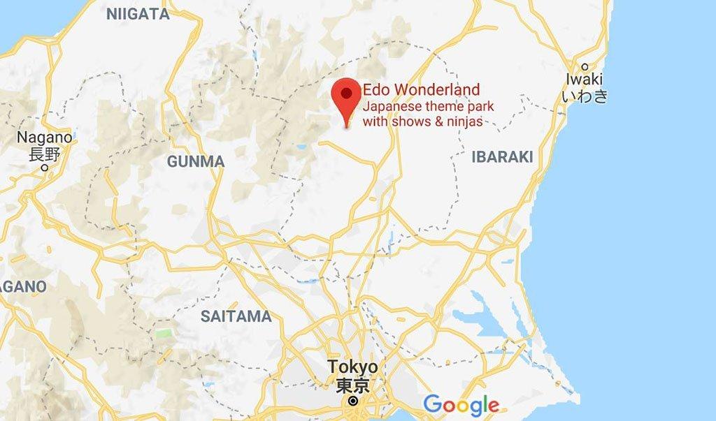 Edo Wonderland Japan guide map