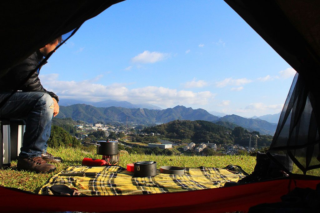 Camping in Japan at Takachiho Gorge