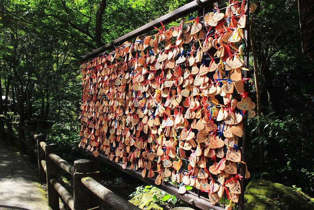 Prayers at Takachiho Gorge