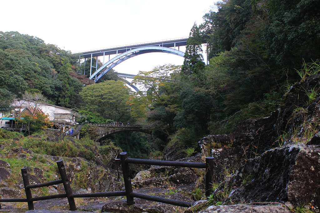 The three bridges at Takachiho Gorge