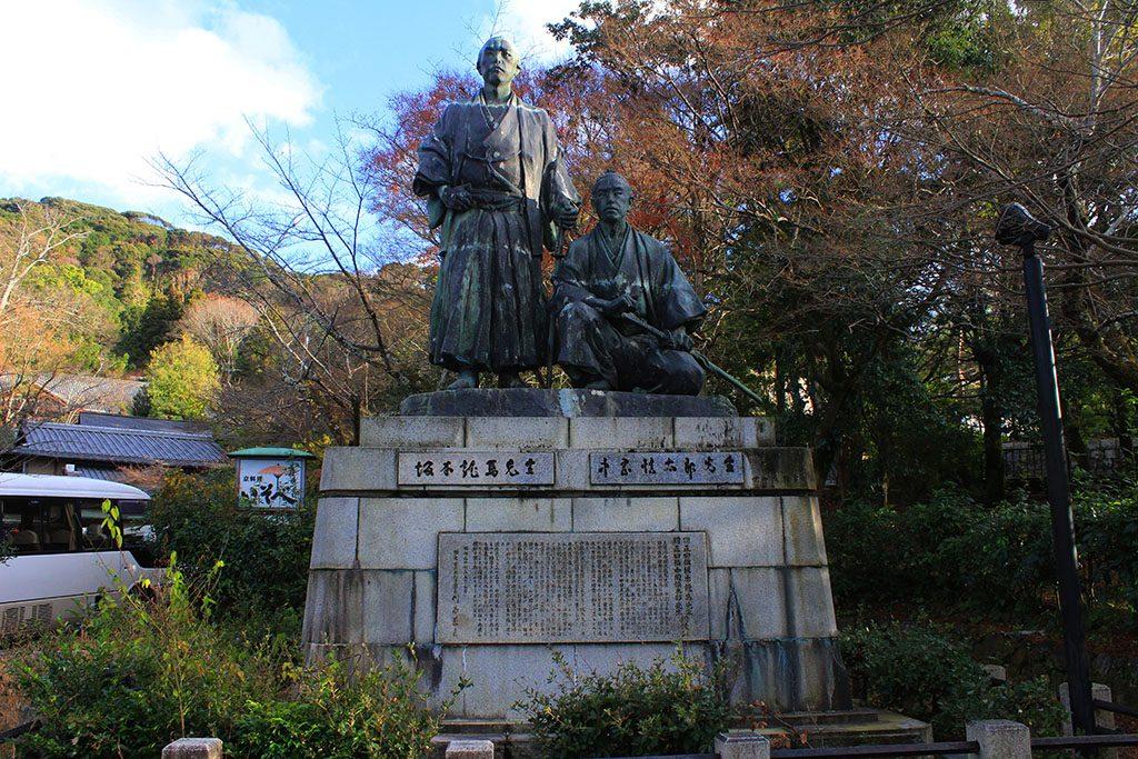 Japanese samurai statue in Kyoto