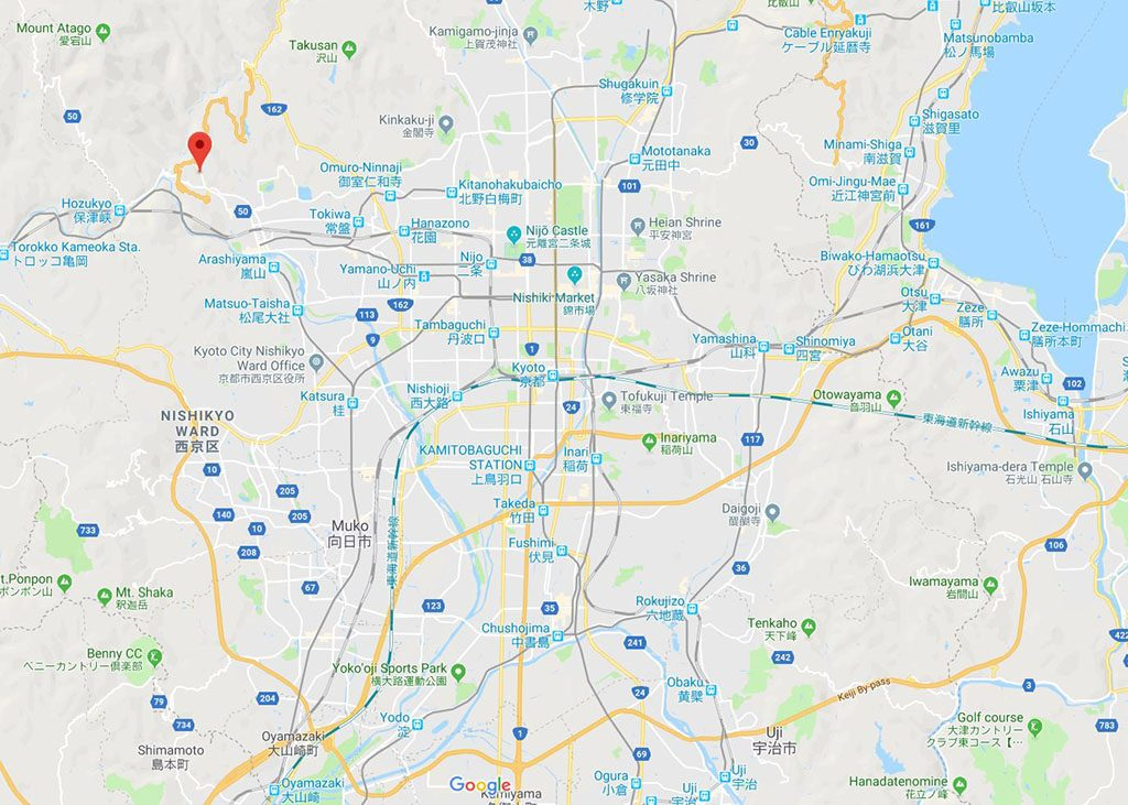The Otagi Nenbutsu-Ji temple guide map
