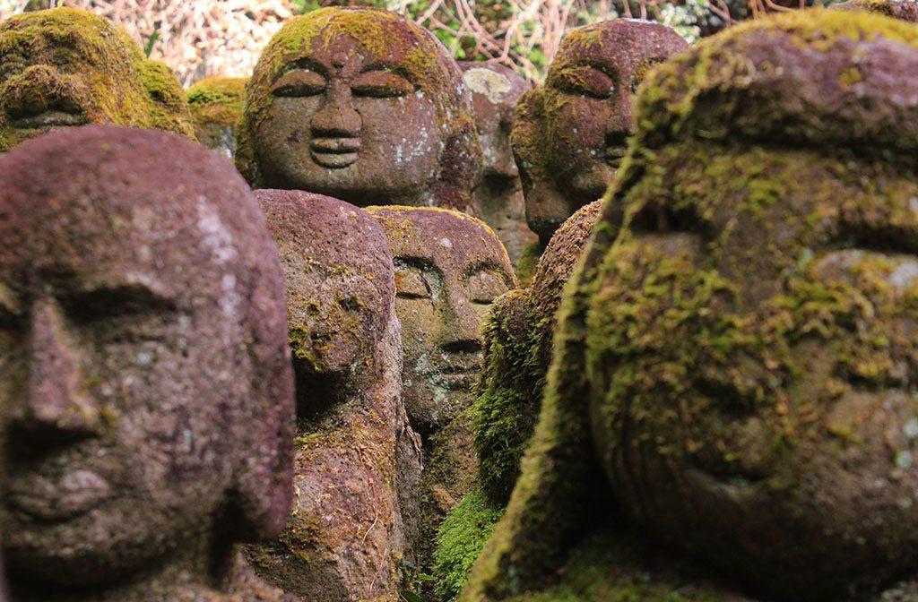 Japanese stone Buddha