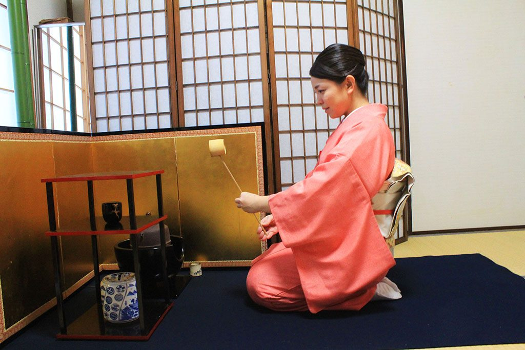 Japanese tea ceremony ritual