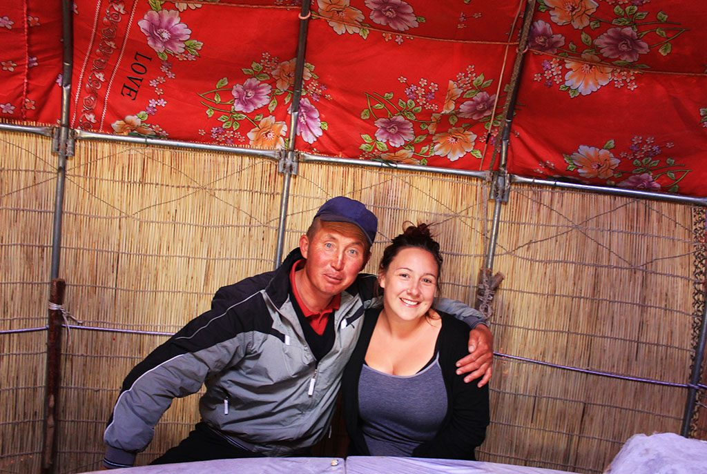 Making friends with locals in Kyrgyzstan