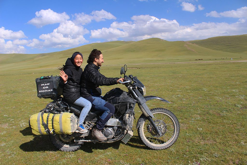 Motorcycling in Kyrgyzstan with a nomad