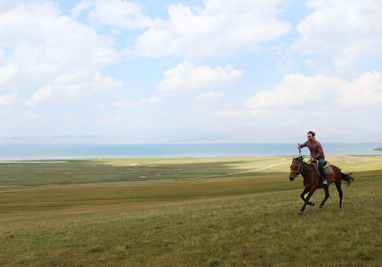 how to go horse riding in Lake Song Kol Kyrgyzstan