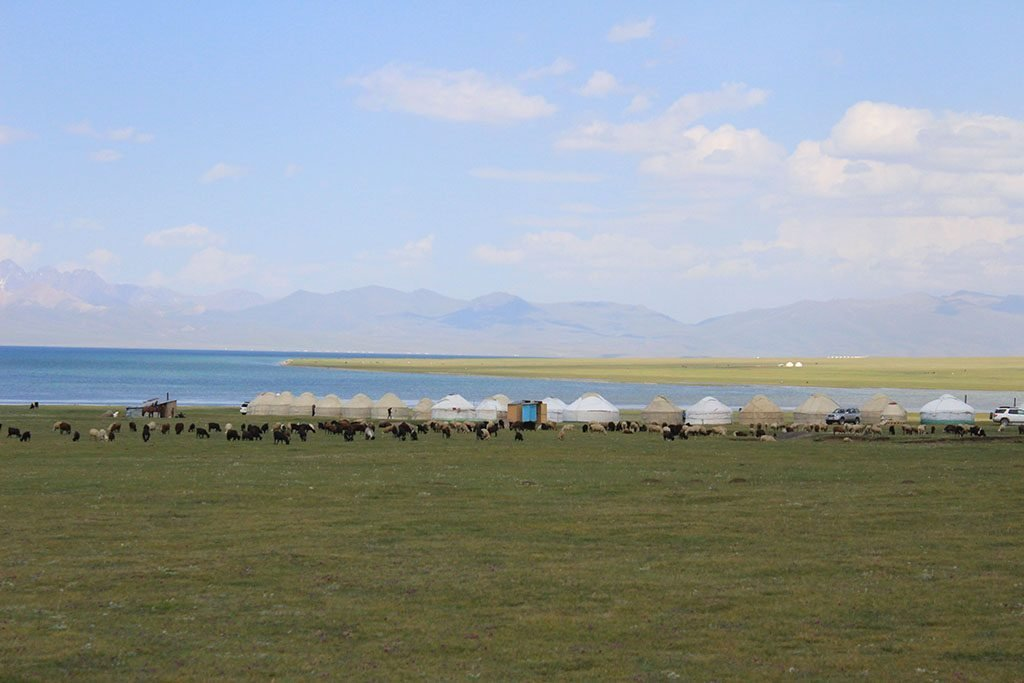 Lake Song Kol yurt camp