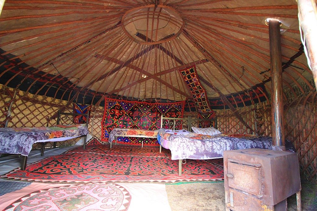 traditional kyrgyzstan yurt