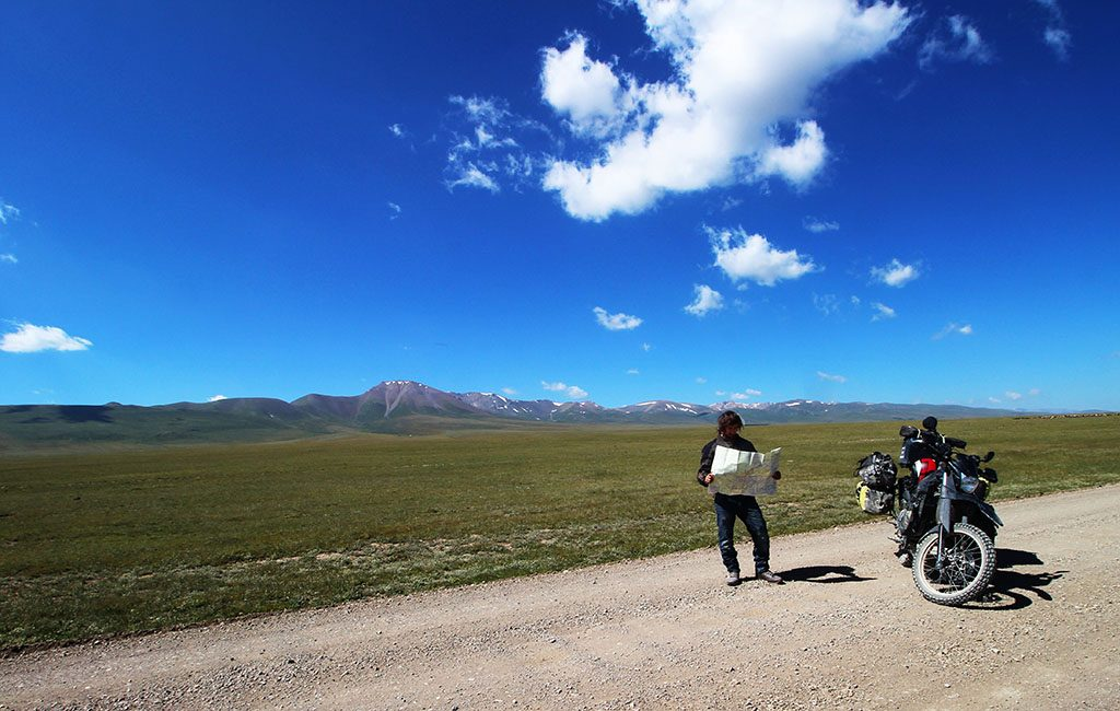 Lost and map reading while adventure biking in Kyrgyzstan