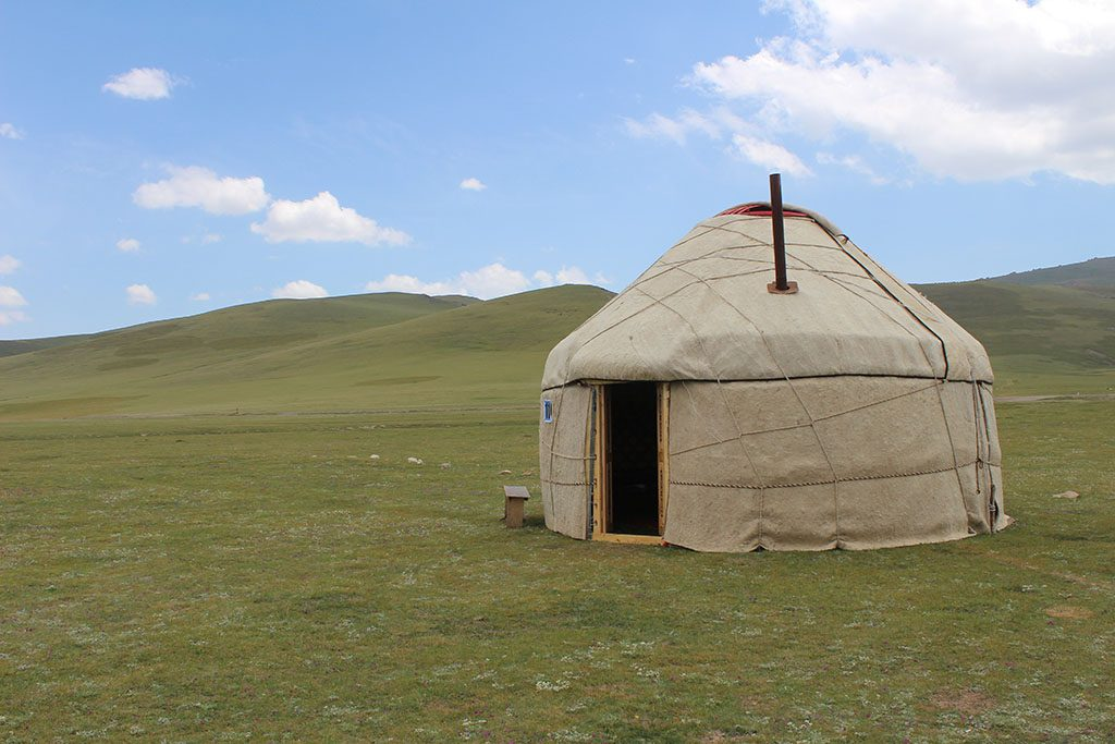 Yurt camp in Lake Song Kol Kyrgyzstan