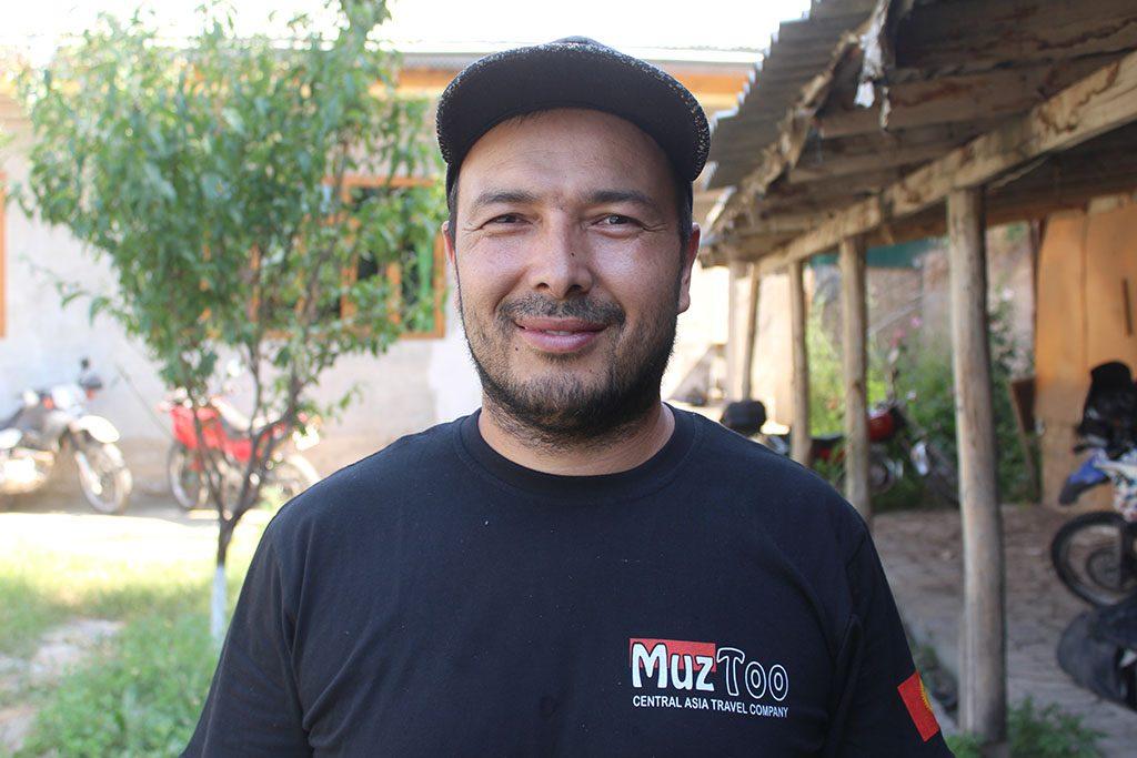 Oibek at Muz Too Motorcycle workshop in Osh Kyrgyzstan