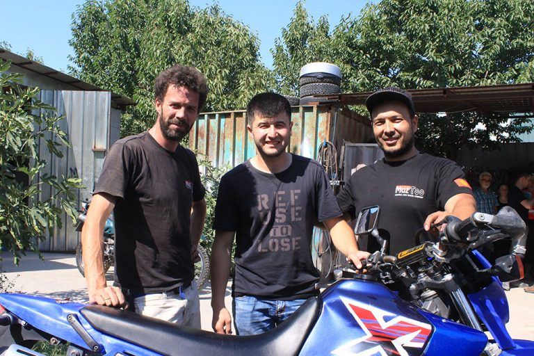 Muz Too team in Kyrgyzsan