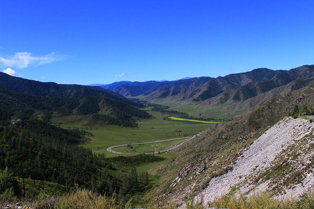 Riding through Kyrgyzstan