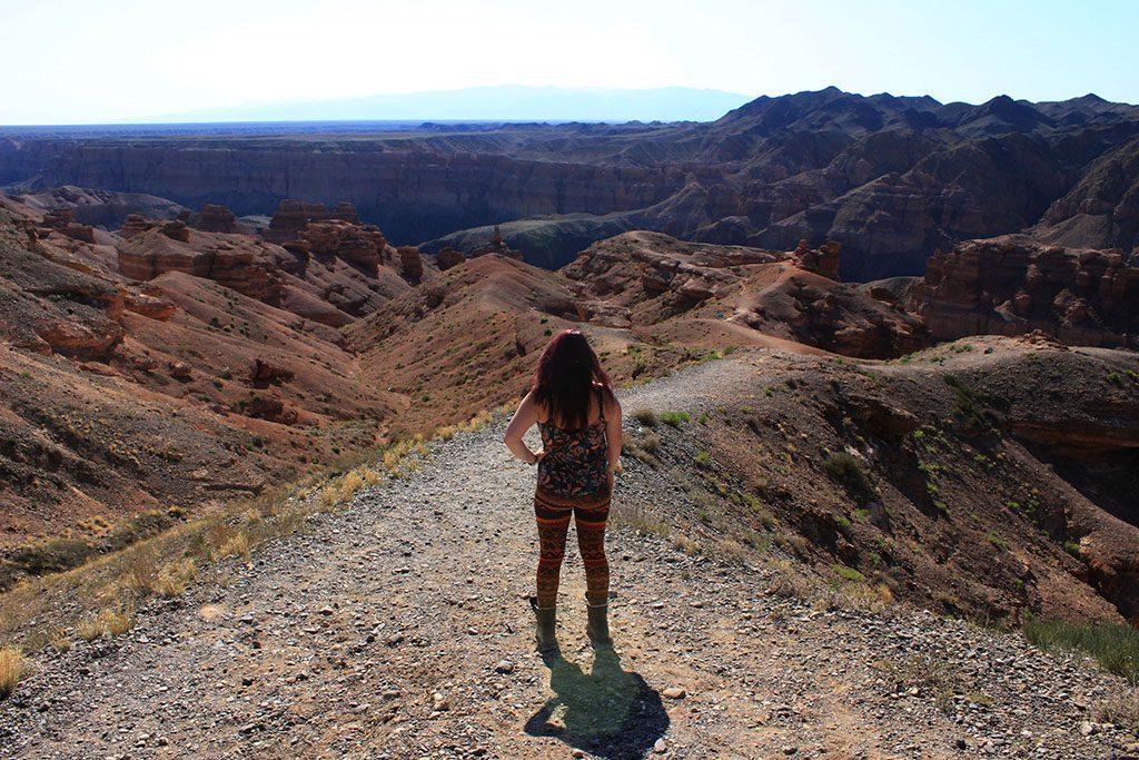 Walking in Charyn Canyon Kazakhstan