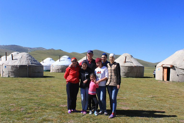 Kyrgyzstan nomad family