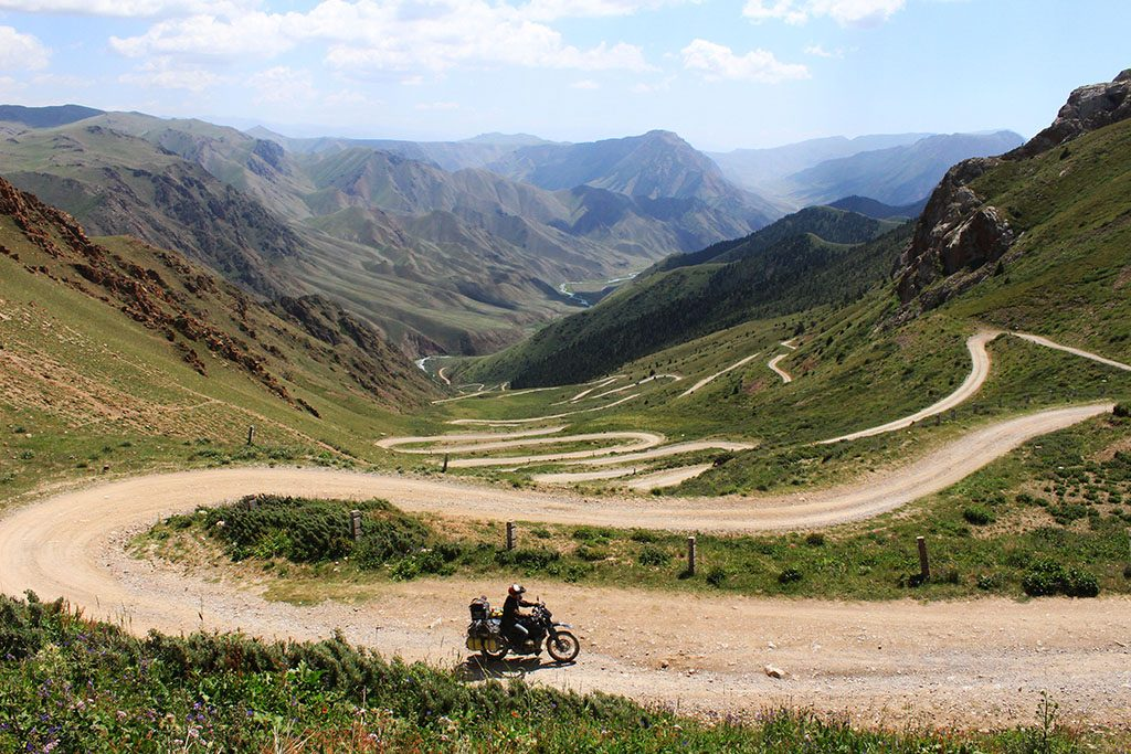 Motorcycle adventure riding in Kyrgyzstan