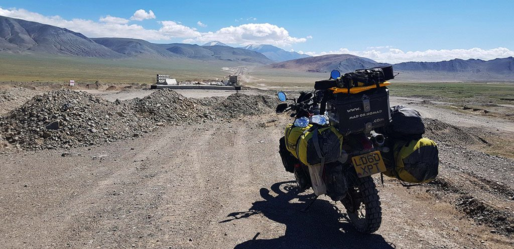 Terrible road conditions in Mongolia