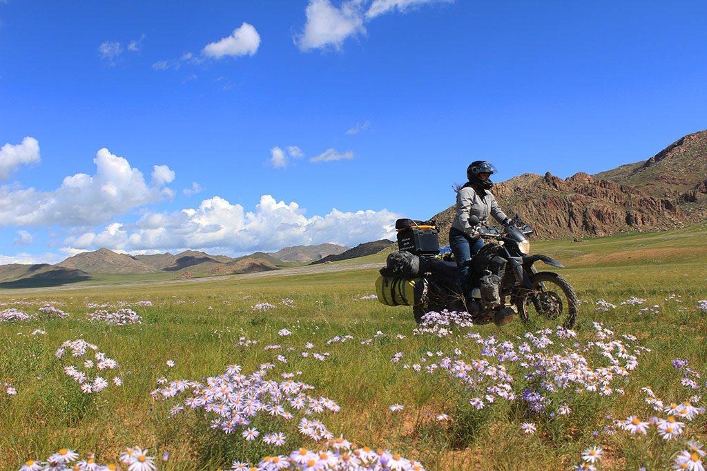 Girl Adventure Motorcycle Travel in Mongolia