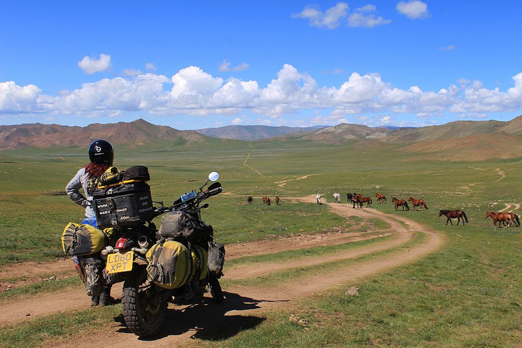 Adventure Motorcycle Travel in Mongolia has epic roads