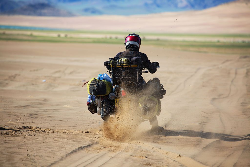 off-road adventure biking in Mongolia
