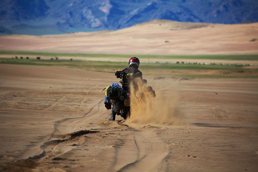 Epic sand riding and motorcycling through Mongolia