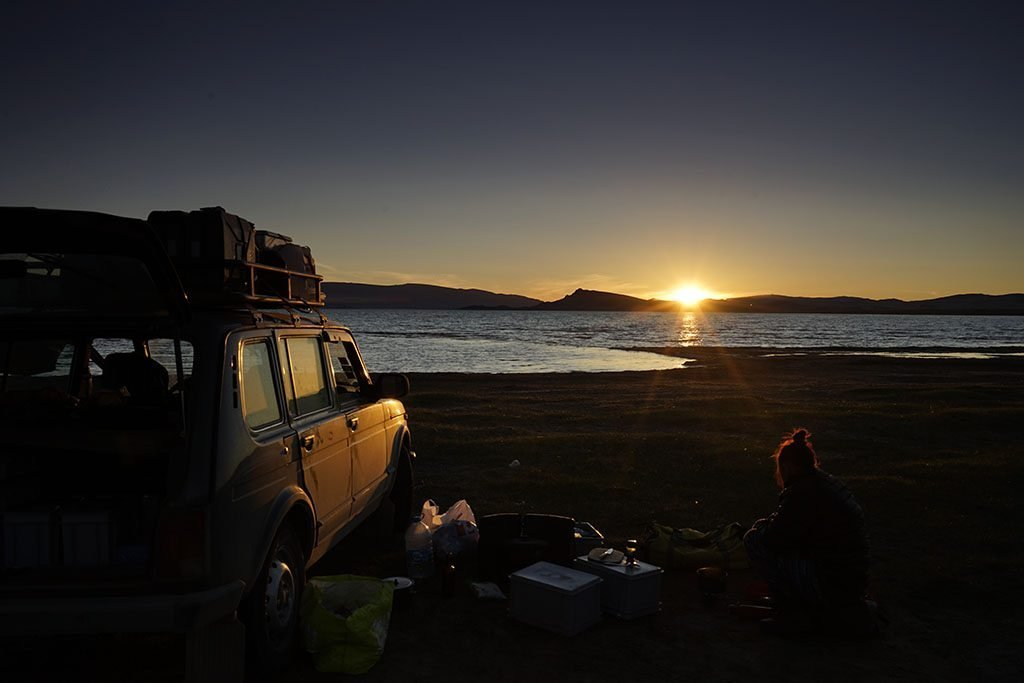 Overland adventure travel and camping in Mongolia