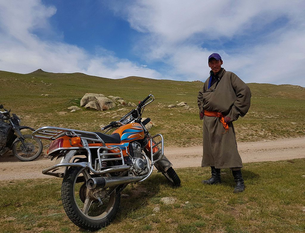 Local Mongolian adventure bike rider