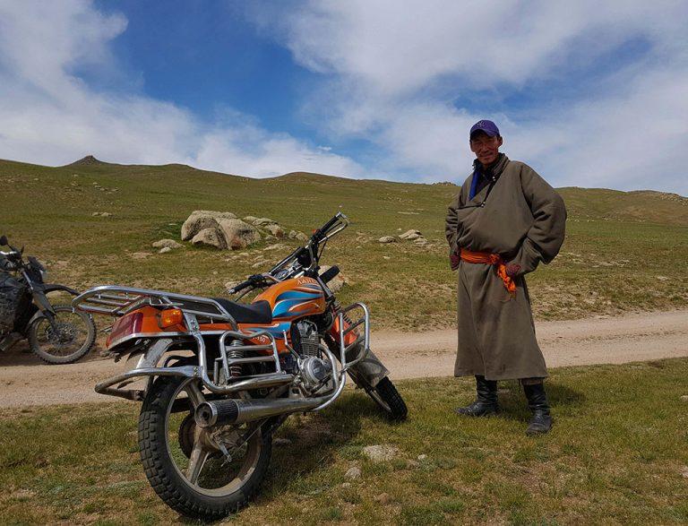 Local Mongolian adventure bike rider